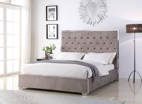 Lexa Tufted Velour Platform Bed ( Choose Your Color )