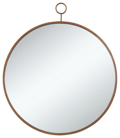 Round With Thin Gold Frame