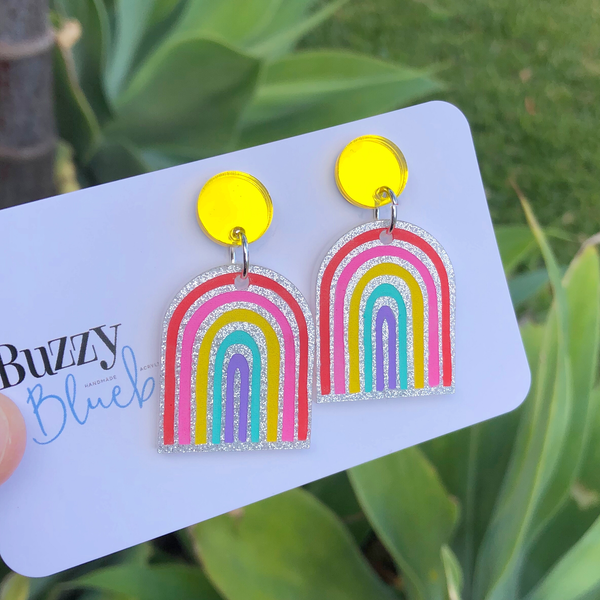 Rainbow dangles - bright