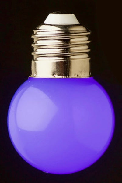 Blue 24v G45 Colour 1watt SMD LED Polycarbonate bulb*