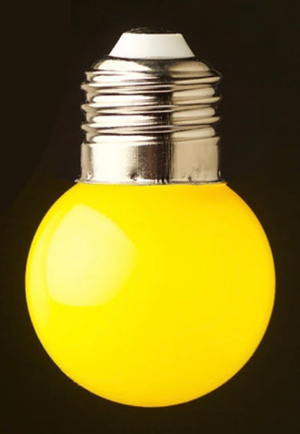 Yellow 24v G45 Colour 1watt  LED Polycarbonate bulb*