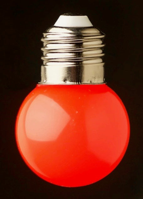 Red 24v G45 Colour 1watt SMD LED Polycarbonate bulb*