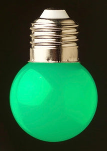 Green 24v G45 Colour 1watt SMD LED Polycarbonate bulb*