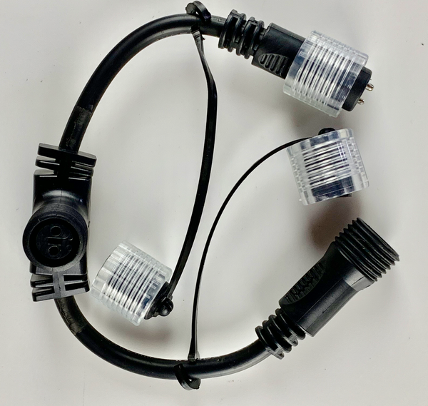 24v T-Piece Connector for low voltage festoon power belts