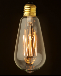 ST64 Squirrel Cage 40watt Filament E27