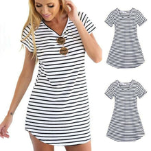 Load image into Gallery viewer, Women Striped Bodycon Eress