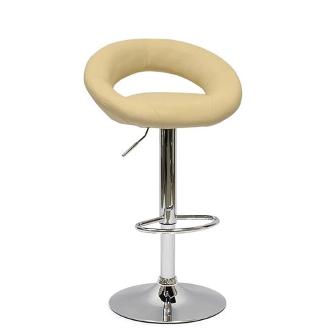 Synthetic leather swivel bar stool