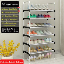 Load image into Gallery viewer, Portable Metal storage Shoe Rack