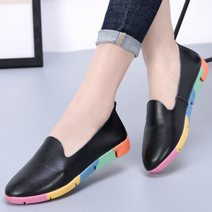 Breathable Genuine Leather Flats