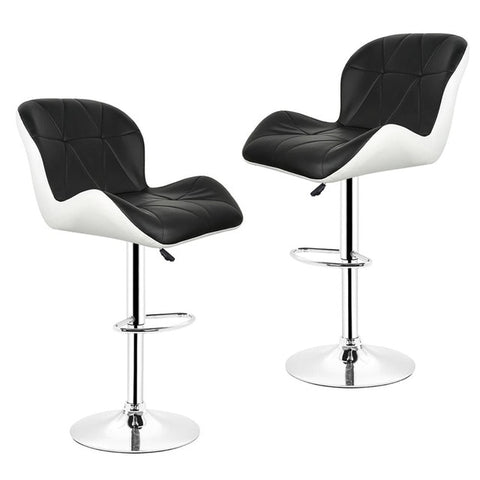 Synthetic leather swivel bar stool 2 piece set