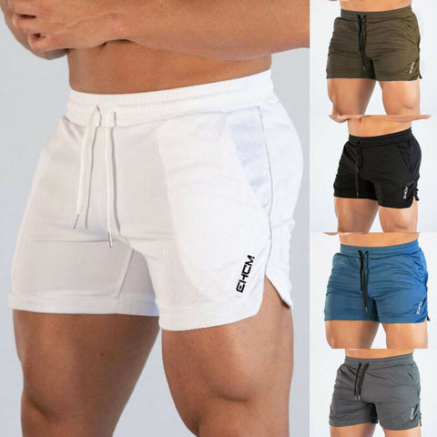 Solid Mens Gym Training Shorts
