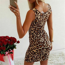 Load image into Gallery viewer, Women Summer Leopard Print Mini Dress