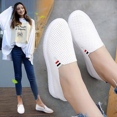 Women Sneakers White Flats