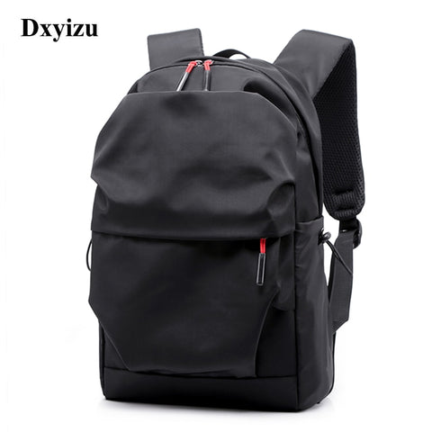 New Waterproof Men Women Backpack 15.6 Inches Laptop Back Pack Large Capacity Stundet Backpacks Pleated Casual School Bags 2020