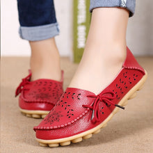 Load image into Gallery viewer, Women Flats Leather Shoes