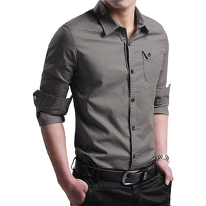Thin Breathable Military Men Shirts