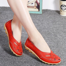 Load image into Gallery viewer, Comfort Genuine Leather Flat Shoes