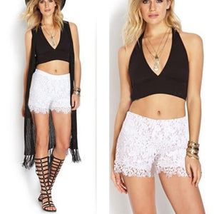 Woman Summer Lace Floral Shorts
