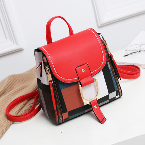 PU Leather Designer Women Backpacks