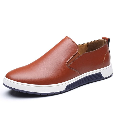 Leather Breathable Holes Shoes