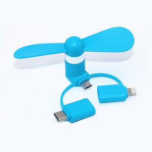 3 in 1 Mini USB Fan