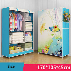 3D Cartoon Pattern Folding Cloth Wardrobe