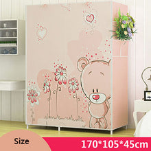 Load image into Gallery viewer, 3D Cartoon Pattern Folding Cloth Wardrobe