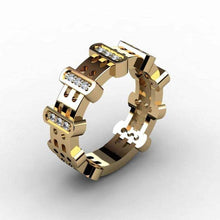 Load image into Gallery viewer, Huitan Punk Hiphop Series Mens Ring Band