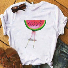 Load image into Gallery viewer, Women Fashion Graphic Flower T-Shirt