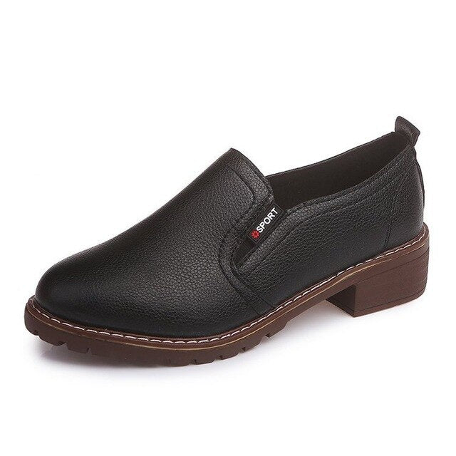 Round Toe Oxford Shoes
