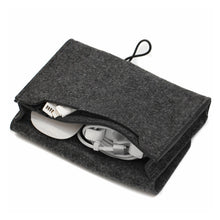 Load image into Gallery viewer, Mini Felt Pouch Chargers Storage Bags