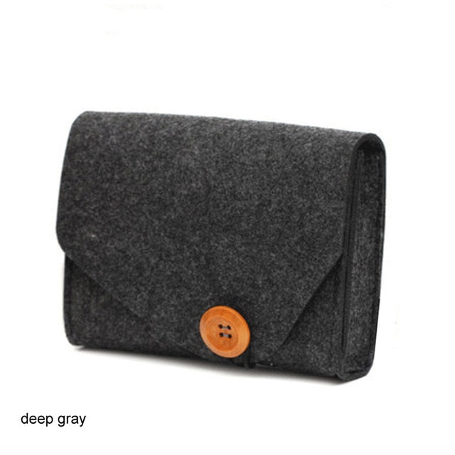 Mini Felt Pouch Chargers Storage Bags