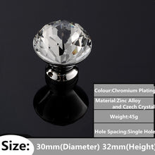 Load image into Gallery viewer, Fashion Deluxe Glass Diamond Furniture Handles