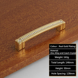 Fashion Deluxe Glass Diamond Furniture Handles