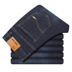 Men's Slim Elastic Jeans