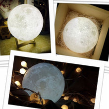 Load image into Gallery viewer, Rechargeable 3D Print Moon Lamp