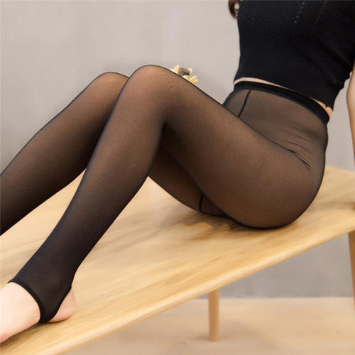 Thick Velvet Warm Mesh Sexy Leggings