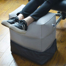 Load image into Gallery viewer, Flocking Travel Inflatable Foot  Stool