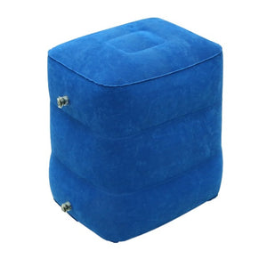 Flocking Travel Inflatable Foot  Stool