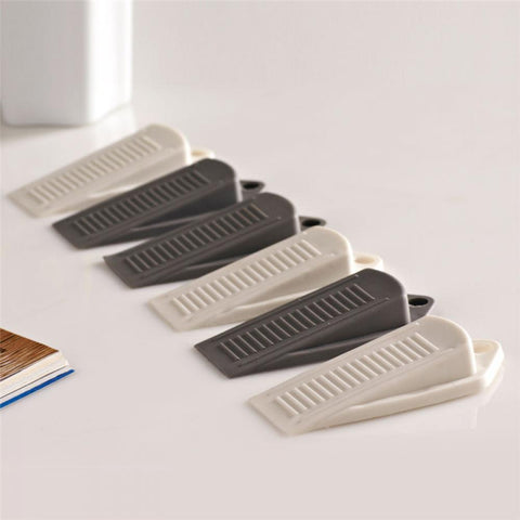 2pcs Door Wedge Shaped Rubber Door Stops Non-Slip Black Rubber Door Buffers for Office Home America Floor Door Stopper