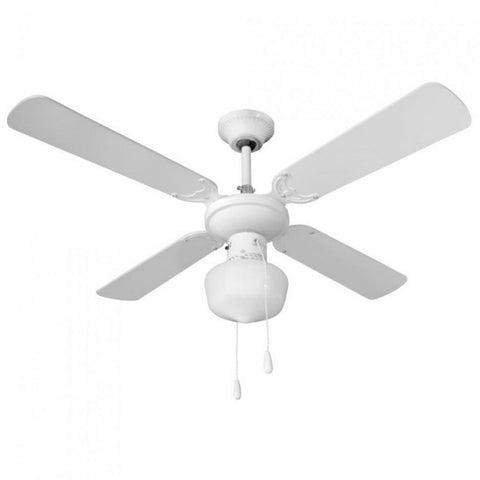 Ceiling fan with light 4 blades 50W 3 speeds 7hSevenOn Deco