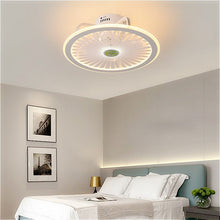 Load image into Gallery viewer, ceiling fans with lights smart fan lamp remote control ventilator lamps 50cm with APP control bedroom decor new