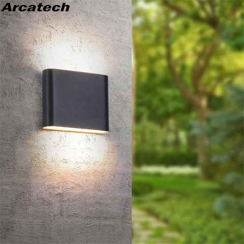 Outdoor Waterproof IP65 Wall Lamp  6W/12W LED Wall Light Modern Indoor/Outdoor Decor Up Down Dual-Head Aluminum Wall Lamp NR-10