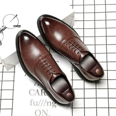 Mens Formal Shoes Genuine Leather Oxford Shoes For Men Italian 2020 Dress Shoes Wedding Shoes Laces Leather Brogues