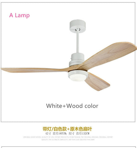 American Retro Ceiling Fan Light Nordic Modern Dinning Room Bedroom Living Room Restaurant Solid Wood Fan Lamp Free Shipping