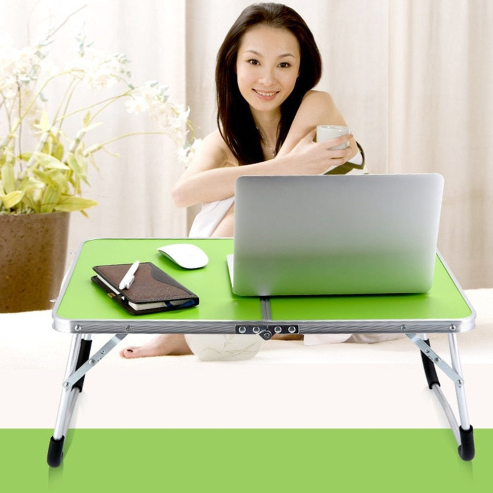 Laptop Double-Folding Computer Table