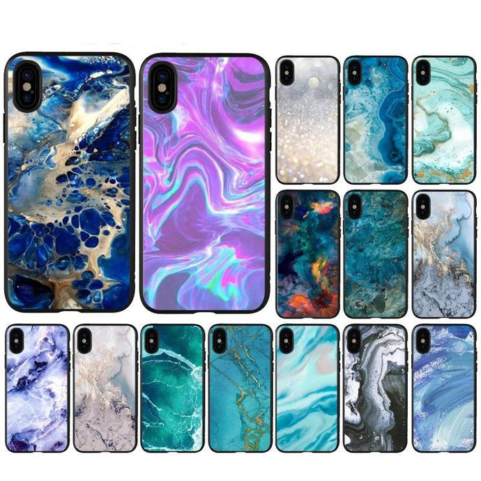 Marble Paint Phone Cover for iPhone