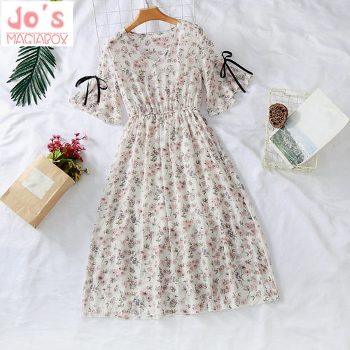 Summer Chiffon Print Kawaii Dress