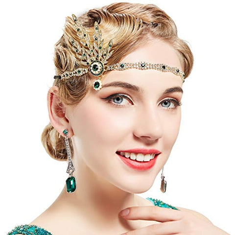 1920's Flapper Pearl Headpiece Headband