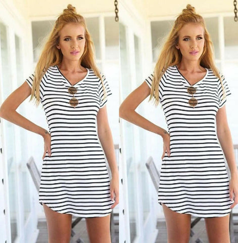 Women Striped Bodycon Eress